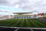 20 October 2012: A wide view of Toyota Park from the press box. The United States Women's National Team played the Germany Women's National Team at Toyota Park in Bridgeview, Illinois in a women's international friendly soccer match. The game ended in a 1-1 tie.