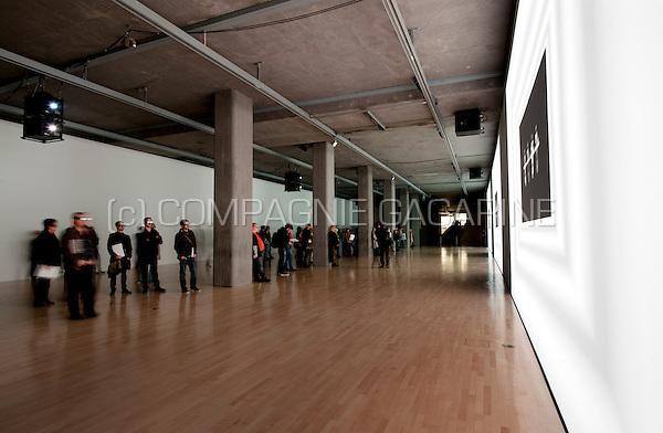 The Kraftwerk 3D Video Installation exhibition at the Kunstbau gallery in München (Germany, 13/10/2011)