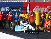 Feb 24, 2017; Chandler, AZ, USA; NHRA top fuel driver Steve Chrisman during qualifying for the Arizona Nationals at Wild Horse Pass Motorsports Park. Mandatory Credit: Mark J. Rebilas-USA TODAY Sports