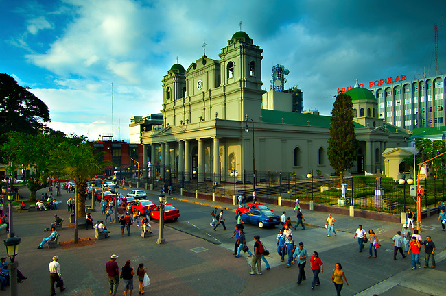 Costa Rica, San Jose, Metroplitan Cathedral, National Cathedral, Central Park, Parque Central