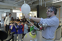 New York University outreach program to introduce 3rd, 4th, and 5th grade students to science in the physics and chemistry departments. Prof. David Grier in the physics department.