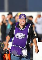 Nov 13, 2016; Pomona, CA, USA; NHRA photographer Tim Marshall during the Auto Club Finals at Auto Club Raceway at Pomona. Mandatory Credit: Mark J. Rebilas-USA TODAY Sports