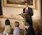 Washington, DC - January 20, 2009 -- United States President Barack Obama speaks during a  luncheon at Statuary Hall in the U.S. Capitol  in Washington, Tuesday, January 20, 2009, after being sworn in as the 44th President of the United States. .Credit: Lawrence Jackson - Pool via CNP