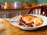 British Food - Cherry pie & Custard