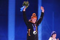 OLYMPICS: SOCHI: Medal Plaza, 19-02-2014, Ladies' 5000m, Ireen Wüst (NED), ©photo Martin de Jong