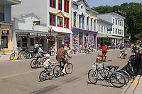 Street scenes on Mackinac Island in Michigan.