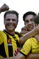 Ben Sigmund in action during the A League - Wellington Phoenix v Adelaide United at Hutt Recreational Ground, Lower Hutt, New Zealand on Saturday 7 March 2015. <br /> Photo by Masanori Udagawa. <br /> www.photowellington.photoshelter.com.