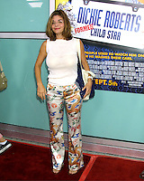 "©2003 KATHY HUTCHINS / HUTCHINS PHOTO.WORLD PREMIERE OF ""DICKIE ROBERTS:FORMER CHILD STAR"".BENEFITING THE CHRIS FARLEY FOUNDATION.CINERAMA DOME.LOS ANGELES, CA.SEPTEMBER 3, 2003..LAURA SANGIACOMA"