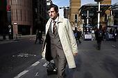 Dragan Pendic, prowadzi jednoosobowa firme w City...Zdjecia pracownikow londynskiego City, dzielnicy biur, central bankow, kancelarii prawnych, firm doradczych i ubezpieczeniowych...Londyn, Wielka Brytania, Marzec 2009..Fot: Piotr Malecki/Napo Images......Dragan Pendic, self employed, works at the city...Images of people at the City of London, employees of banks, insurance, consulting and law firms...City of London, Great Britain, March 2009..(Photo by Piotr Malecki/Napo Images)