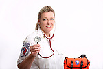 A Wisconsin EMT with a medical bag wearing a stethoscope