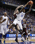 UK guard Archie Goodwin gets a rebound during the second half of the men's basketball game against Mississippi State at Rupp Arena in Lexington, Ky. on Saturday, February 27, 2013. Photo by Genevieve Adams