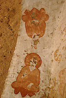 A damage fresco, representing two Buddha in meditation position, in a temple next to the giant Bamiyan Buddha. On the left, the fresco have been loot and sold to rich arts collectors.