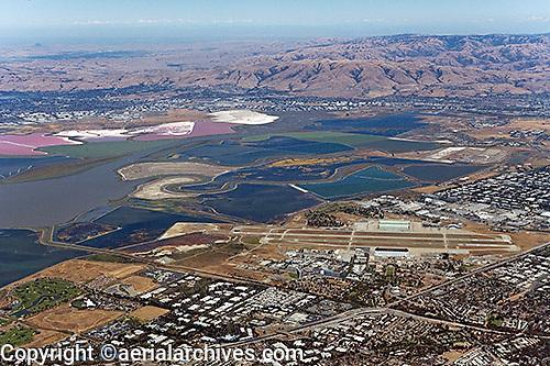 aerial photograph Mountain View, San Clara county, California