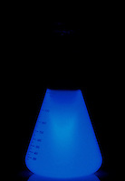 CHEMILUMINESCENCE: LUMINOL REACTION<br /> H2O2 Activates Luminol Solution<br /> Hydrogen peroxide, an oxidant, is used as a luminescence activator in Luminol solution.