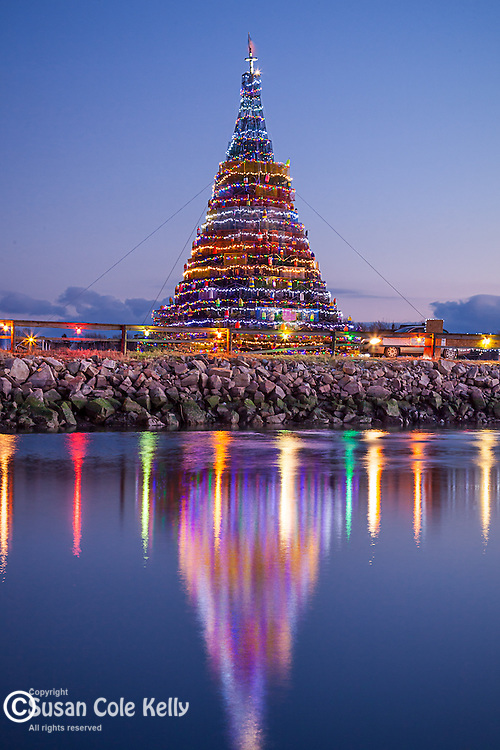 The Lobster pot Christmas tree in Beals Island, ME, USA