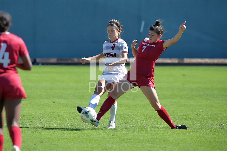 Stanford, CA; Sunday October 5, 2014; Women's Soccer, Stanford vs Washington State.