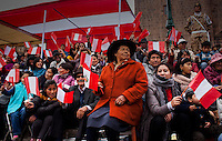 Cusco, Peru. 25 July 2014. People attend the Military parade for the 193rd Independence's anniversary of Peru.  Photo by Juan Gabriel Lopera/VIEWpress.