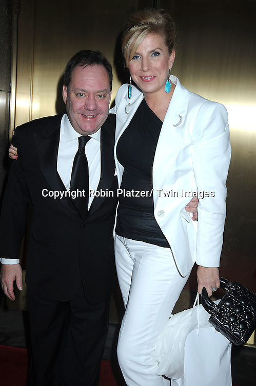 Jimmy Nederlander and wife Margo McNabb arriving at The 61st Annual Tony Awards on June 13, 2010 at Radio City Music Hall in New York City.