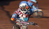 Robert Mear celebrates after winning Heat 4 - Lakeside Hammers vs Swindon Robins at the Arena Essex Raceway, Pufleet - 18/06/12 - MANDATORY CREDIT: Rob Newell/TGSPHOTO - Self billing applies where appropriate - 0845 094 6026 - contact@tgsphoto.co.uk - NO UNPAID USE..