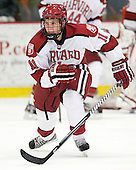Kyle Criscuolo (Harvard - 11) - The Harvard University Crimson defeated the visiting Bentley University Falcons 5-0 on Saturday, October 27, 2012, at Bright Hockey Center in Boston, Massachusetts.