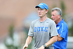 01 September 2013: Duke associate head coach Billy Lesesne. The Duke University Blue Devils played the University of New Mexico Lobos at Fetzer Field in Chapel Hill, NC in a 2013 NCAA Division I Women's Soccer match. Duke won the game 1-0.