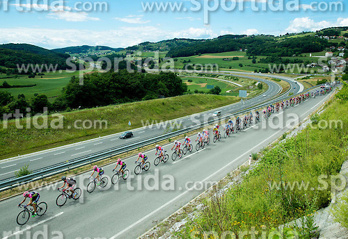 Peloton near Novo mesto during Stage 4 of 22nd Tour of Slovenia 2015 from Rogaska Slatina to Novo mesto (165,5 km) cycling race  on June 21, 2015 in Slovenia. Photo by Vid Ponikvar / Sportida