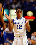 Brandon Knight cheers on his teammates in the first half of the UK's win over Coppin State at Rupp Arena on Dec. 28, 2010. Photo by Britney McIntosh | Staff