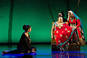 "World premiere of ""Wah! Wah! Girls"" , a British Bollywood musical, at the Peacock Theatre, London. A Sadler's Wells, Theatre Royal Stratford East & Kneehigh production, in association with Hall for Cornwall. Picture shows: Sophiya Haque (as Soraya), Rina Fatania (as Bindi) and Sheena Patel (as young Soraya)."