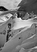 steep chute skier