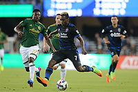 San Jose, CA - Saturday May 06, 2017: Cordell Cato during a Major League Soccer (MLS) match between the San Jose Earthquakes and the Portland Timbers at Avaya Stadium.
