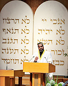 "Imam Mohammed Magid, Executive Director, All Dulles Area Muslim Society, makes remarks at the September 11 remembrance at Washington Hebrew Congregation in Washington, D.C. on September 11, 2011 which is part of the ""The Washington National Cathedral's A Call to Compassion"" to commemorate the 10th anniversary of the terrorist attacks in New York, New York and Washington, D.C..Credit: Ron Sachs / CNP"