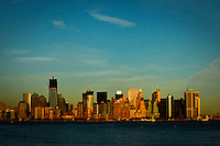 General view of Lower Manhattan in New York, 9/01/12. New York City, with a population of over 8.1 million, is the most populous city in the United States. It is known for its status as a financial, cultural, transportation, and manufacturing center, and for its history as a gateway for immigration to the United States.   Photo by Eduardo Munoz Alvarez / VIEWpress.