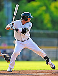 2 July 2011: Vermont Lake Monsters outfielder Jordan Tripp in action against the Tri-City ValleyCats at Centennial Field in Burlington, Vermont. The Lake Monsters rallied from a 4-2 deficit to defeat the ValletCats 7-4 in NY Penn League action. Mandatory Credit: Ed Wolfstein Photo