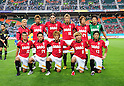 Urawa Reds team group line-up,..JULY 17, 2011 - Football :..Urawa Reds team group shot (Top row - L to R) Sergio Escudero, Mitsuru Nagata, Matthew Spiranovic, Hiroyuki Takasaki, Genki Haraguchi, Nobuhiro Kato, (Bottom row - L to R) Marcio Richardes, Tadaaki Hirakawa, Shunki Takahashi, Yosuke Kashiwagi and Keita Suzuki before the 2011 J.League Division 1 match between Jubilo Iwata 1-1 Urawa Red Diamonds at Ecopa Stadium in Shizuoka, Japan. (Photo by AFLO)
