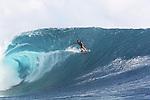 French Polynesia Tahiti Chopu waves & surfers