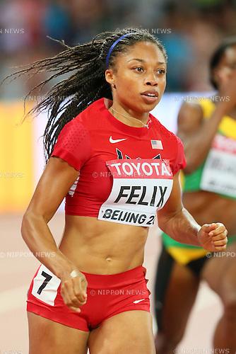 Allyson Felix (USA), AUGUST 25, 2015 - Athletics : 15th IAAF World Championships in Athletics Beijing 2015 Women's 400m Semi-Final at Beijing National Stadium in Beijing, China. (Photo by YUTAKA/AFLO SPORT)