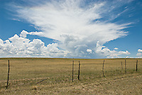 clouds over a beautiful ranch in New Mexico