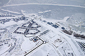 Luchtfoto Oostmahorn-Esonstad-Lauwersmeer