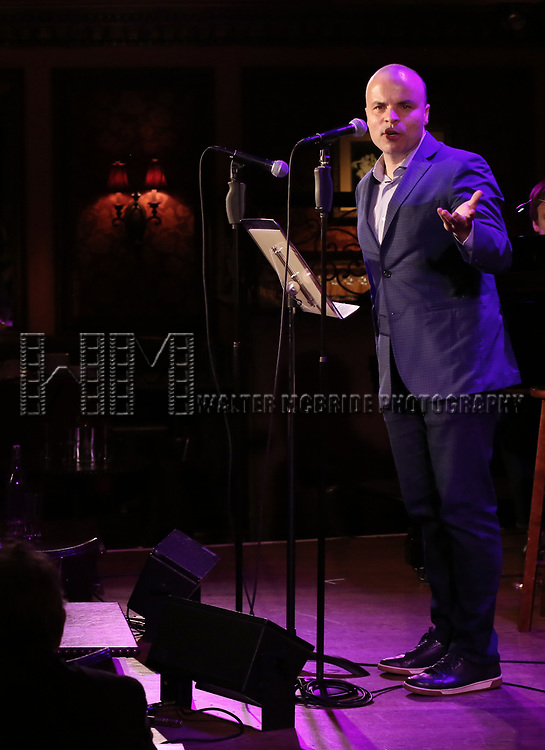 J.T. Rogers attends 2017 New York Drama Critics' Circle Awards Reception at Feinstein's/54 Below on May 18, 2017 in New York City.