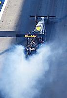 Jun 17, 2016; Bristol, TN, USA; NHRA top fuel driver Leah Pritchett during qualifying for the Thunder Valley Nationals at Bristol Dragway. Mandatory Credit: Mark J. Rebilas-USA TODAY Sports