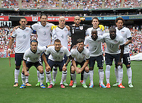 USMNT Starting Eleven. The USMNT defeated Germany 4-3, during and international friendly commemorating the centennial celebration for U.S. Soccer, at RFK Stadium, Sunday July 2 , 2013.