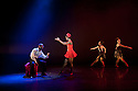 """London, UK. 29/02/2012. Ballet Back presents """"Storyville"""", choreographed by Christopher Hampson, as part of """"The Ballet Black Mixed Bill featuring Storyville"""". L to R: Joseph Poulton, Cira Robinson, Sayaka Ichikawa and Kanika Carr. Photo credit: Jane Hobson"""
