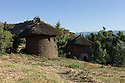 23/01/12. Lalibela, Ethiopia. Lalibela-style, double-storey round houses. Photo credit: Jane Hobson.