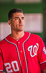 6 April 2014: Washington Nationals shortstop Ian Desmond stands in the dugout during a game against the Atlanta Braves at Nationals Park in Washington, DC. The Nationals defeated the Braves 2-1 to salvage the last game of their 3-game series. Mandatory Credit: Ed Wolfstein Photo *** RAW (NEF) Image File Available ***