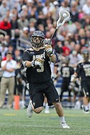 Annapolis, MD - April 15, 2017: Army Black Knights Nick Santorelli (3) passes the ball during game between Army vs Navy at  Navy-Marine Corps Memorial Stadium in Annapolis, MD.   (Photo by Elliott Brown/Media Images International)