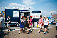 Cool Kitchen lobster roll truck at the beach at the City of Long Beach, Long Island, New York on Saturday, July 16, 2011. (© Richard B. Levine)