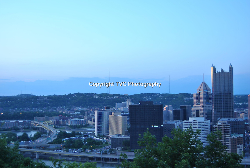 Pittsburgh Outer Communities Skyline Scenes of Pittsburgh PA