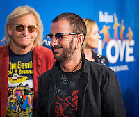 LAS VEGAS, NV - July 14, 2016: Joe Walsh and Ringo Starr pictured arriving at The Beatles LOVE by Cirque Du Soleil at The Mirage Resort in Las vegas, NV on July 14, 2016. Credit: Erik Kabik Photography/ MediaPunch