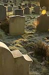 Church graveyard in England