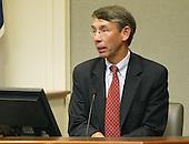 George Mason University professor Steven S. Fuller testifies during the trial of sniper suspect John Allen Muhammad in Virginia Beach Circuit Court in Virginia Beach, Virginia on November 9, 2003.  <br /> Credit: Tracy Woodward - Pool via CNP